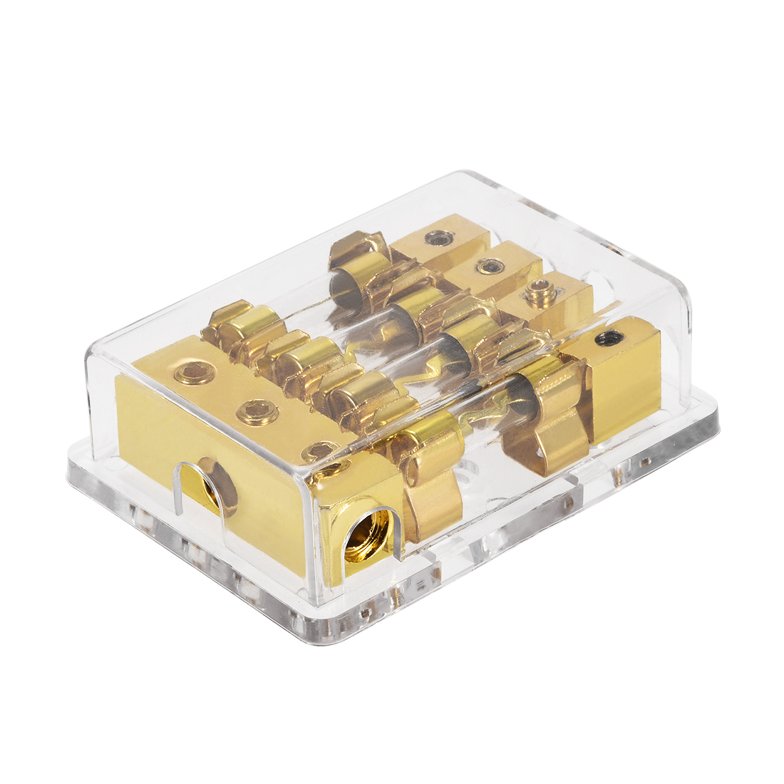 4/8 AWG Gauge AGU 1 in 4 Fuse Holder Distribution Block with 30A AGU Fuses