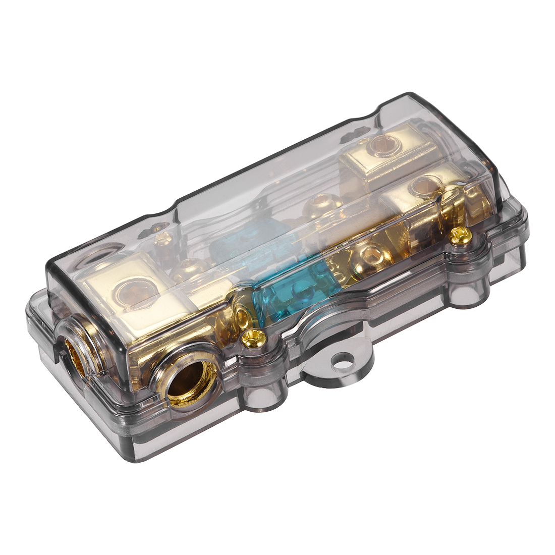 4/8 Gauge in Line Mini ANL 1 in 2 Fuse Holder Distribution Block with 60A Fuses