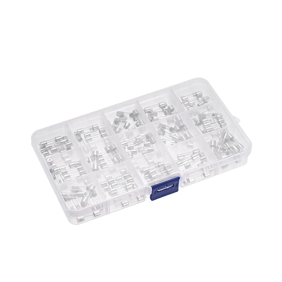15 types Fast Blow Glass Cartridge Fuse Tube Fuse Kits 250V 1Sets