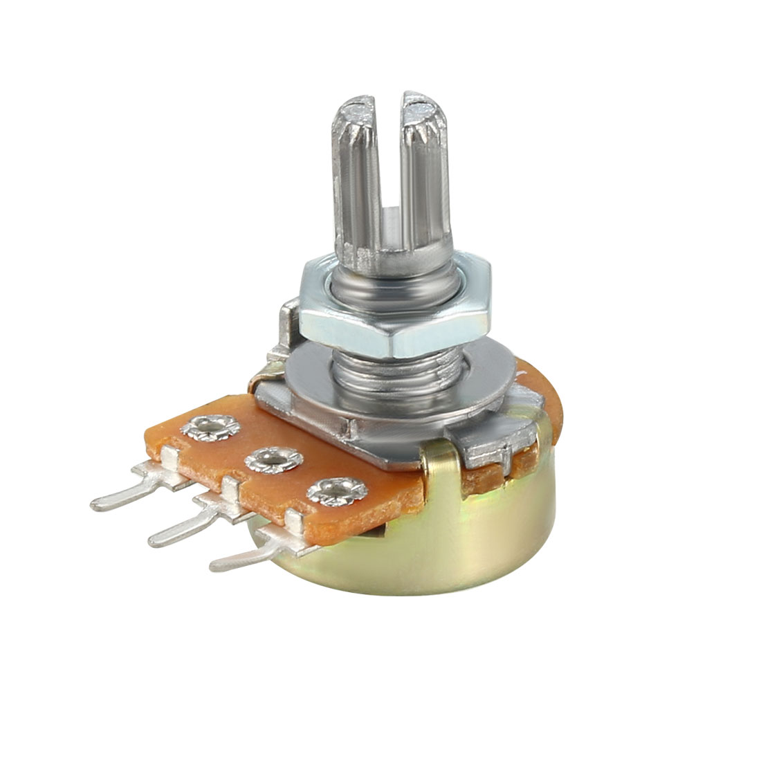 WH148 Potentiometer Variable Resistors Single Turn Rotary Carbon Film 18pcs