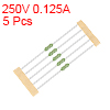 Pico Fuse 250V 0.125A Fast Blow Axial Leaded 3x62mm Telecom Communication 5pcs