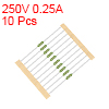 Pico Fuse 250V 0.25A Fast Blow Axial Leaded 3x62mm Telecom Communication 10pcs