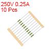 Pico Fuse 250V 0.25A Fast Blow Axial Leaded 3x62mm Telecom Communication 10pcs
