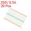 Pico Fuse 250V 0.5A Fast Blow Axial Leaded 3x62mm Telecom Communication 20pcs