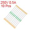 Pico Fuse 250V 0.5A Fast Blow Axial Leaded 3x62mm Telecom Communication 10pcs