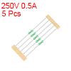 Pico Fuse 250V 0.5A Fast Blow Axial Leaded 3x62mm for Telecom Communication 5pcs