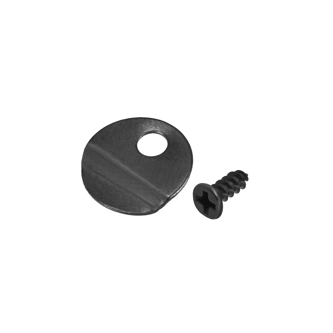 """Frame Turn Button, 1/2"""" Metal Round with Screws for Hanging, 100 Pcs (Black )"""