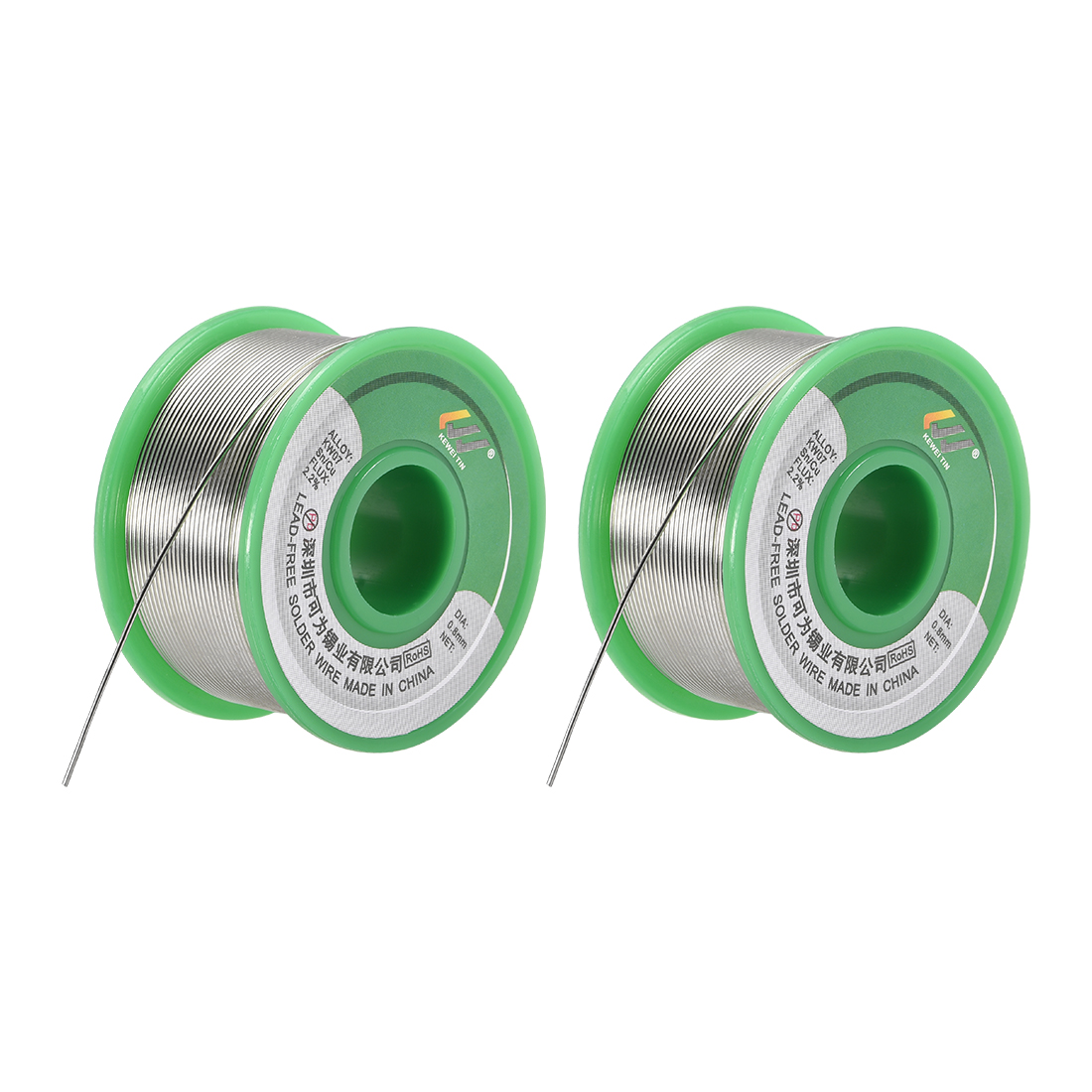 Solder Wire 0.8mm 100g Sn99.3% Cu0.7% with Rosin Core 2Pcs for Soldering