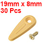 "Frame Turn Button, 3/4"" Plastic Indicator Type w Screws for Hang 30 Pcs (Yellow)"