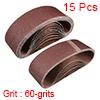"3"" x 21"" Abrasive Sanding Belt, 60-Grits Aluminum Oxide Sand Belts 15pcs"