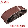 "3"" x 21"" Abrasive Sanding Belt, 80-Grits Aluminum Oxide Sand Belts 5pcs"