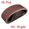 "3"" x 21"" Abrasive Sanding Belt, 80-Grits Aluminum Oxide Sand Belts 10pcs"