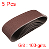 "3"" x 21"" Abrasive Sanding Belt, 100-Grits Aluminum Oxide Sand Belts 5pcs"
