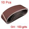 "3"" x 21"" Abrasive Sanding Belt, 100-Grits Aluminum Oxide Sand Belts 10pcs"