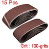 "3"" x 21"" Abrasive Sanding Belt, 100-Grits Aluminum Oxide Sand Belts 15pcs"
