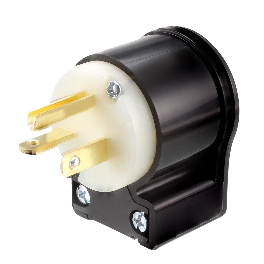 Locking Plug Male NEMA 5-20P 20A 125VAC 2 Pole 3 Wire Grounding Industrial Grade