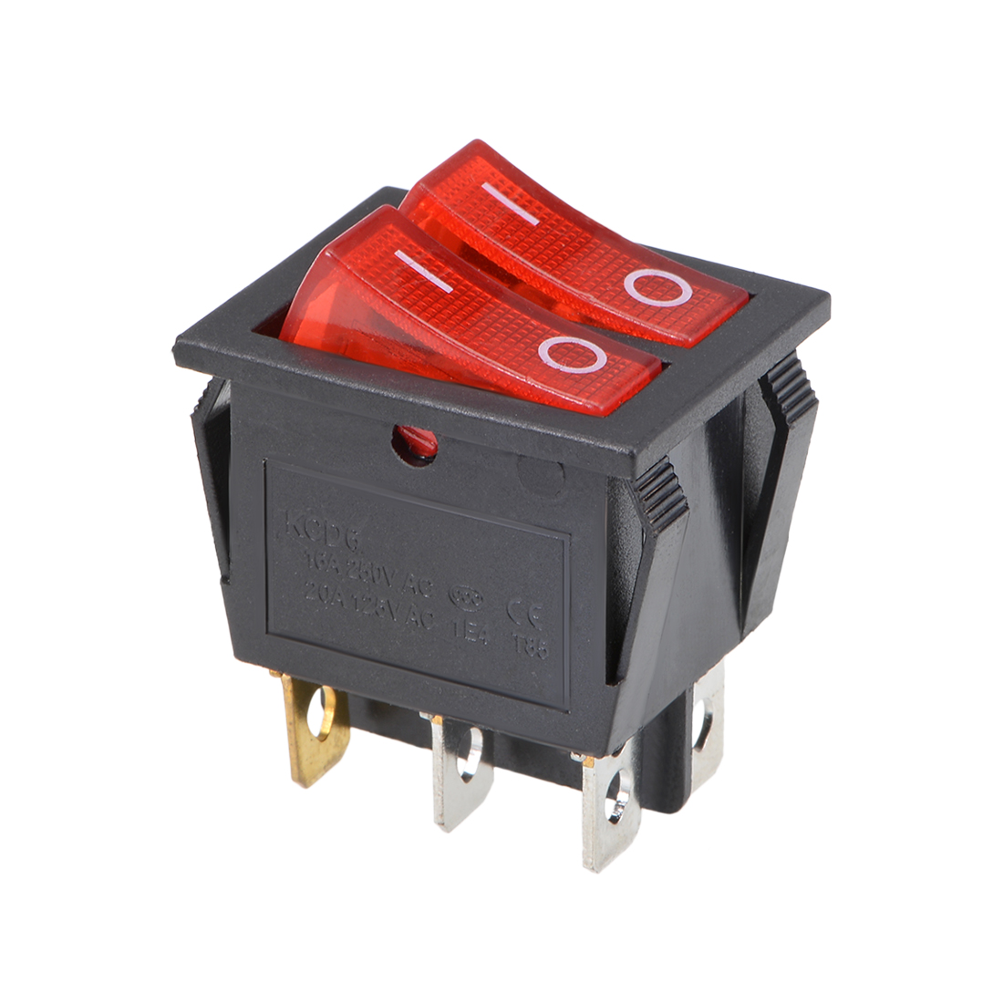 Rocker Switch with Light AC 16A/250V 20A/125V 6 Pin Duplex Toggle Switch ON-OFF