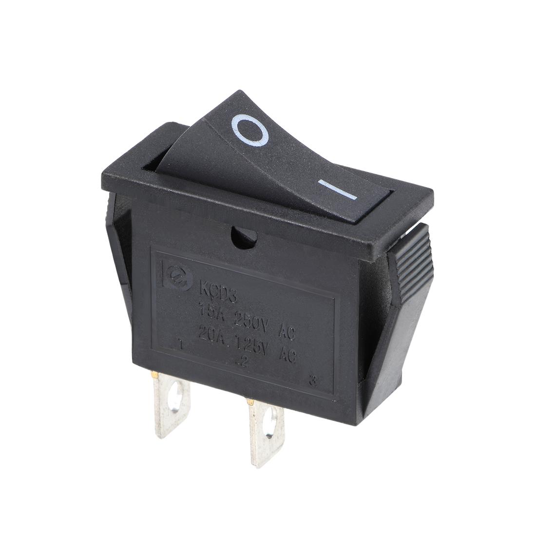 Rocker Switch AC 15A/250V 20A/125V 2 Pin Mini Boat SPST Toggle Switch ON-OFF