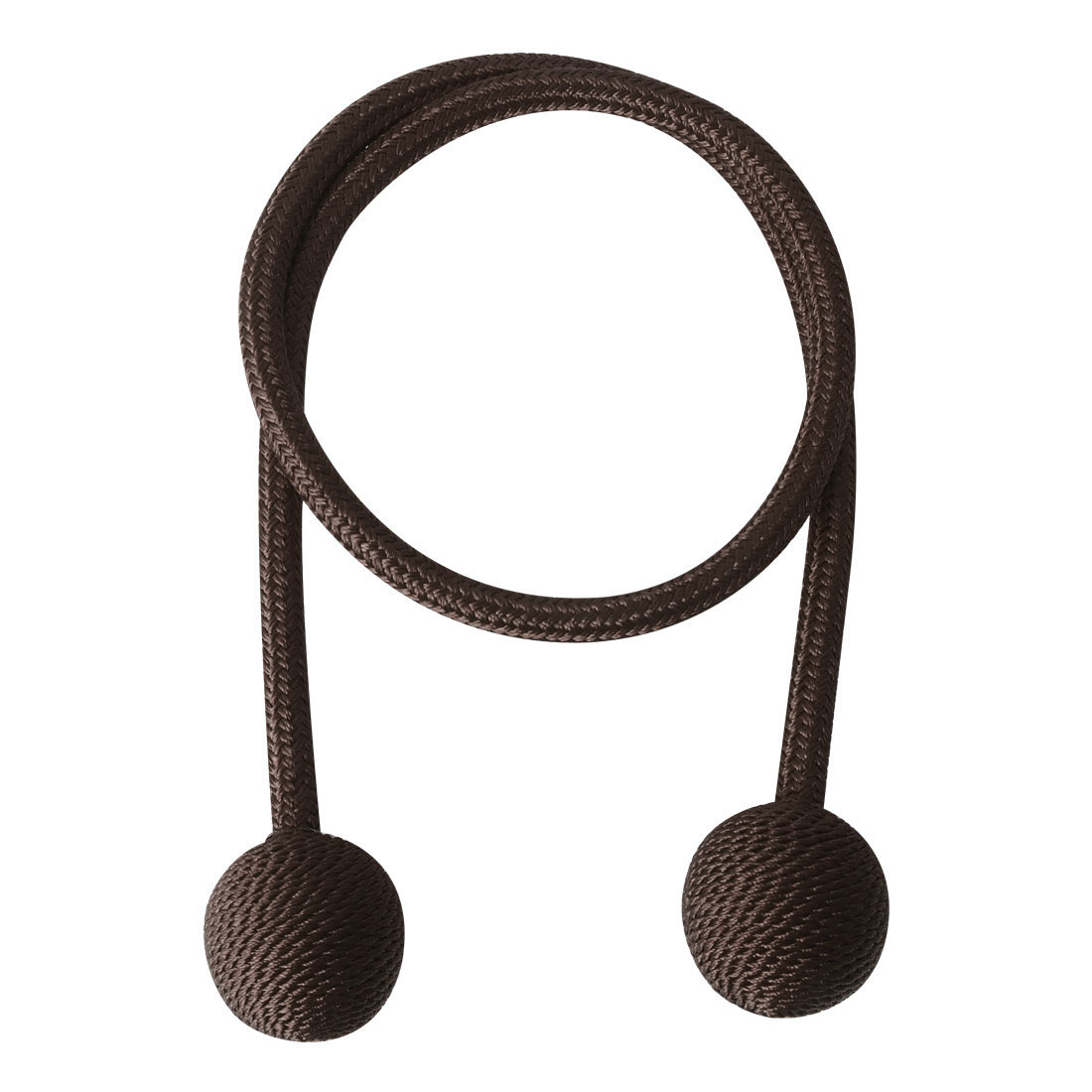 "Curtain Tieback 25.6"" Holdback Decorative Rope Curtain Holders, Chocolate Color"