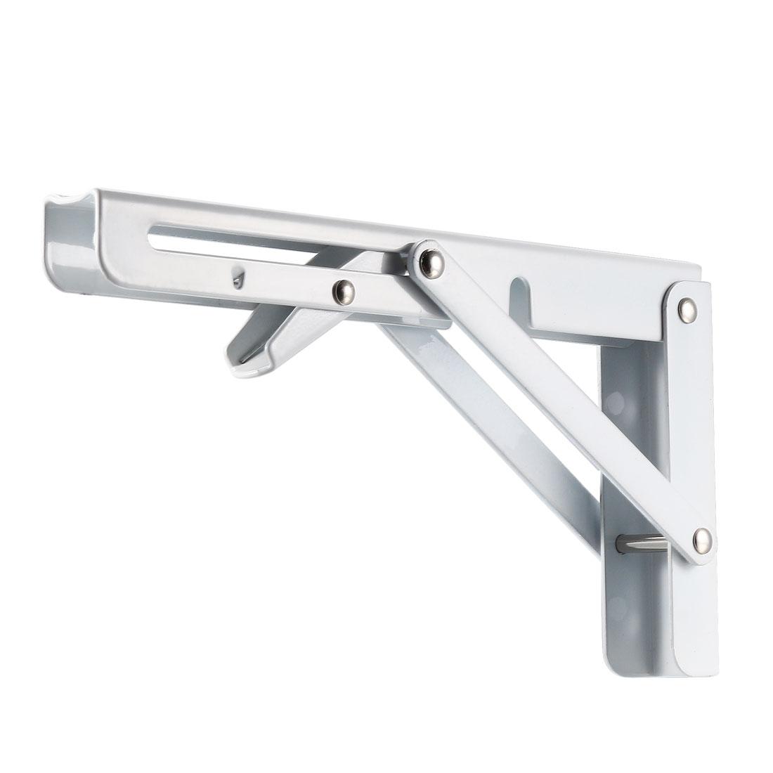"""Folding Bracket 10"""" 250mm Shelf Table Desk Wall Mounted Support Long Release 2pc"""