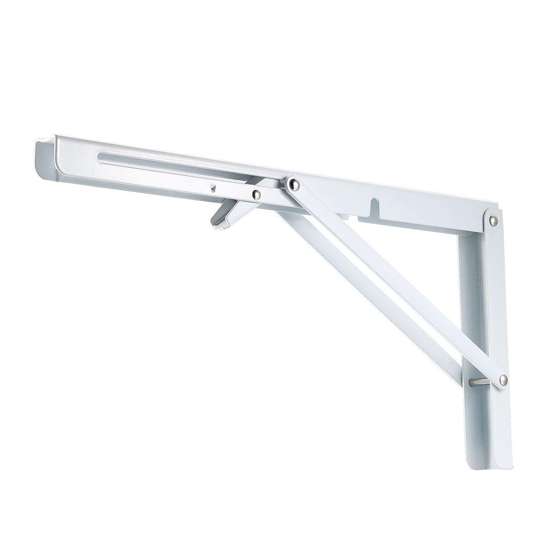 """Folding Bracket 14"""" 350mm Shelf Table Desk Wall Mounted Support Long Release 2pc"""