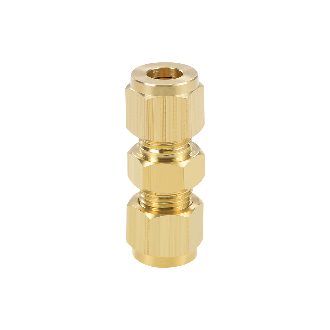 Brass Compression Tube Fitting 8mm OD Straight Pipe Adapter Water Irrigation
