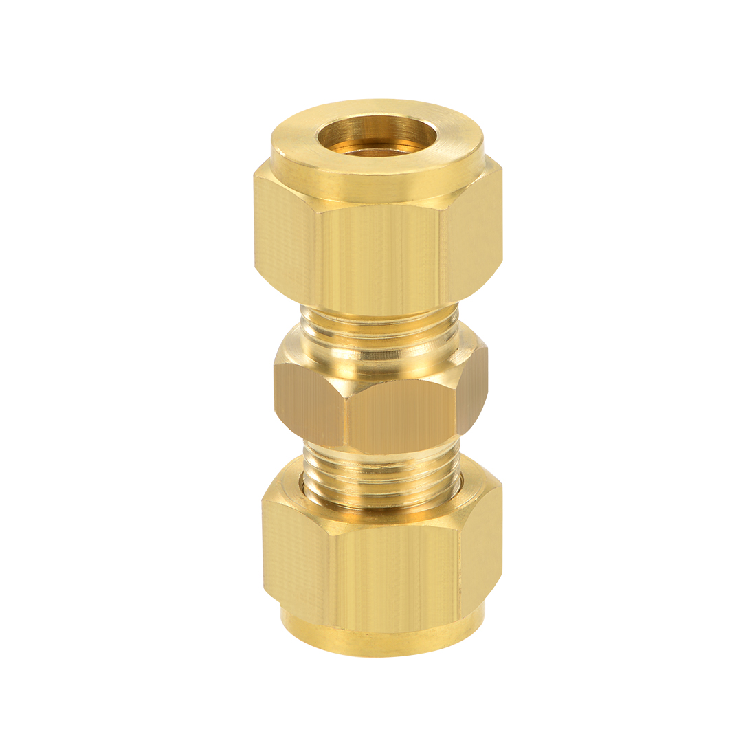 Brass Compression Tube Fitting 10mm OD Straight Pipe Adapter Irrigation