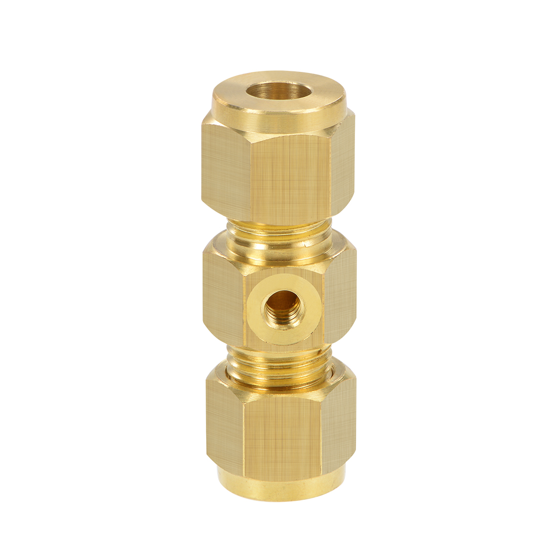 Brass Compression Tube Fitting 8mm OD UNC 10-24 Nozzle Hole Pipe Adapter