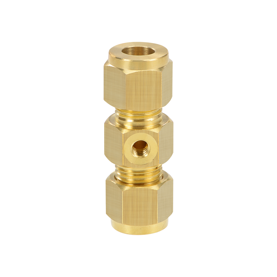 Brass Compression Tube Fitting 9.8mm OD UNC 10-24 Nozzle Hole Pipe Adapter