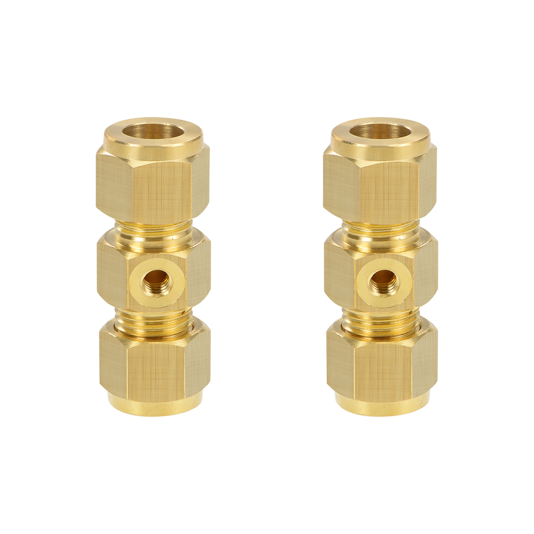 Brass Compression Tube Fitting 10mm OD UNC 10-24 Nozzle Adapter 2pcs
