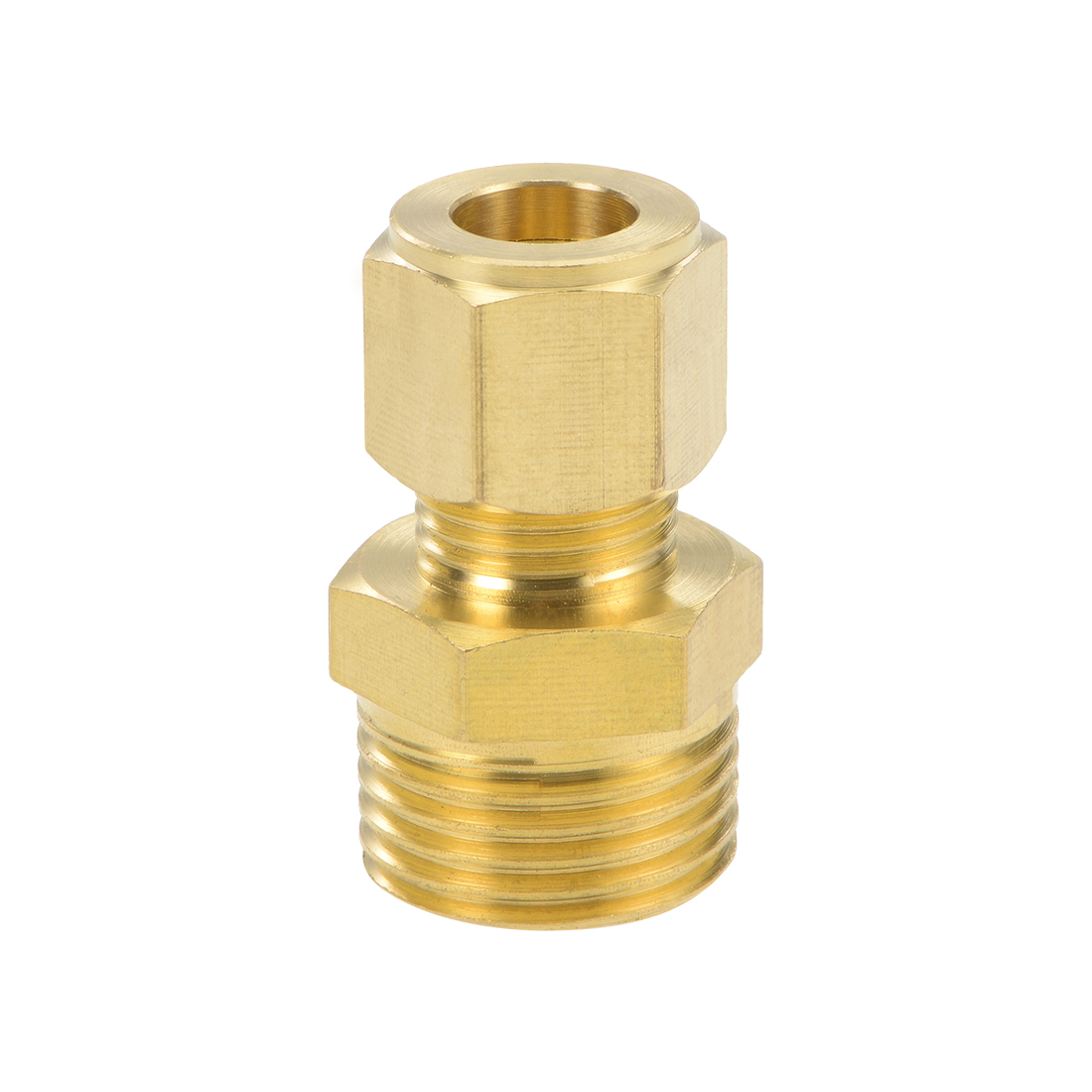 Brass Compression Tube Fitting 9.6mm OD 1/2 NPT Male Thread Pipe Adapter