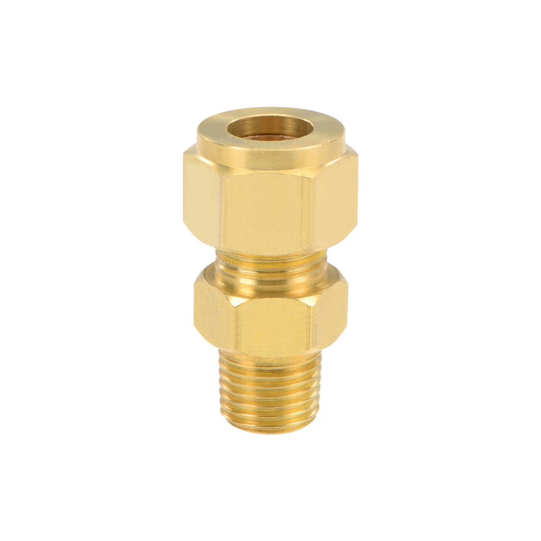 Brass Compression Tube Fitting 10mm OD 1/4 NPT Thread Pipe Adapter