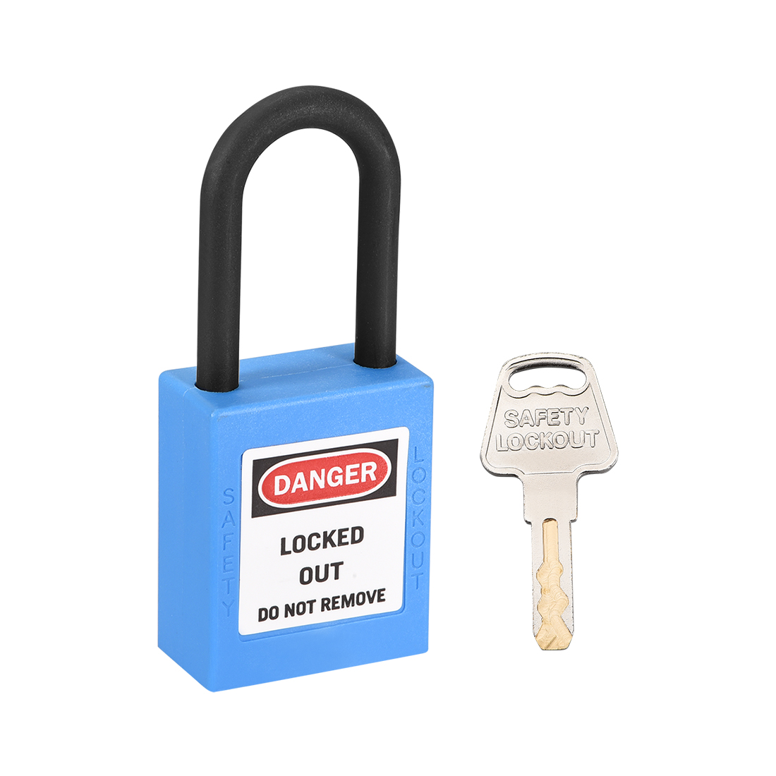 Lockout Tagout Locks, 1-1/2 Inch Shackle Key Alike Safety Padlock Blue