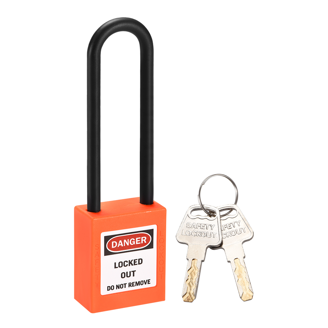 Lockout Tagout Locks 3 Inch Shackle Key Different Safety Padlock Plastic Orange
