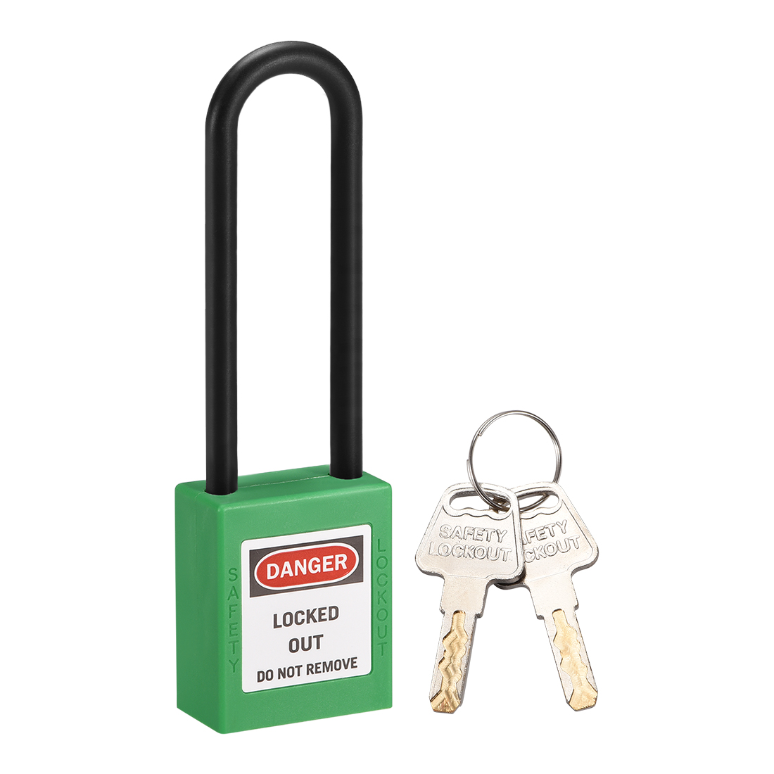 Lockout Tagout Locks 3 Inch Shackle Key Different Safety Padlock Light Green