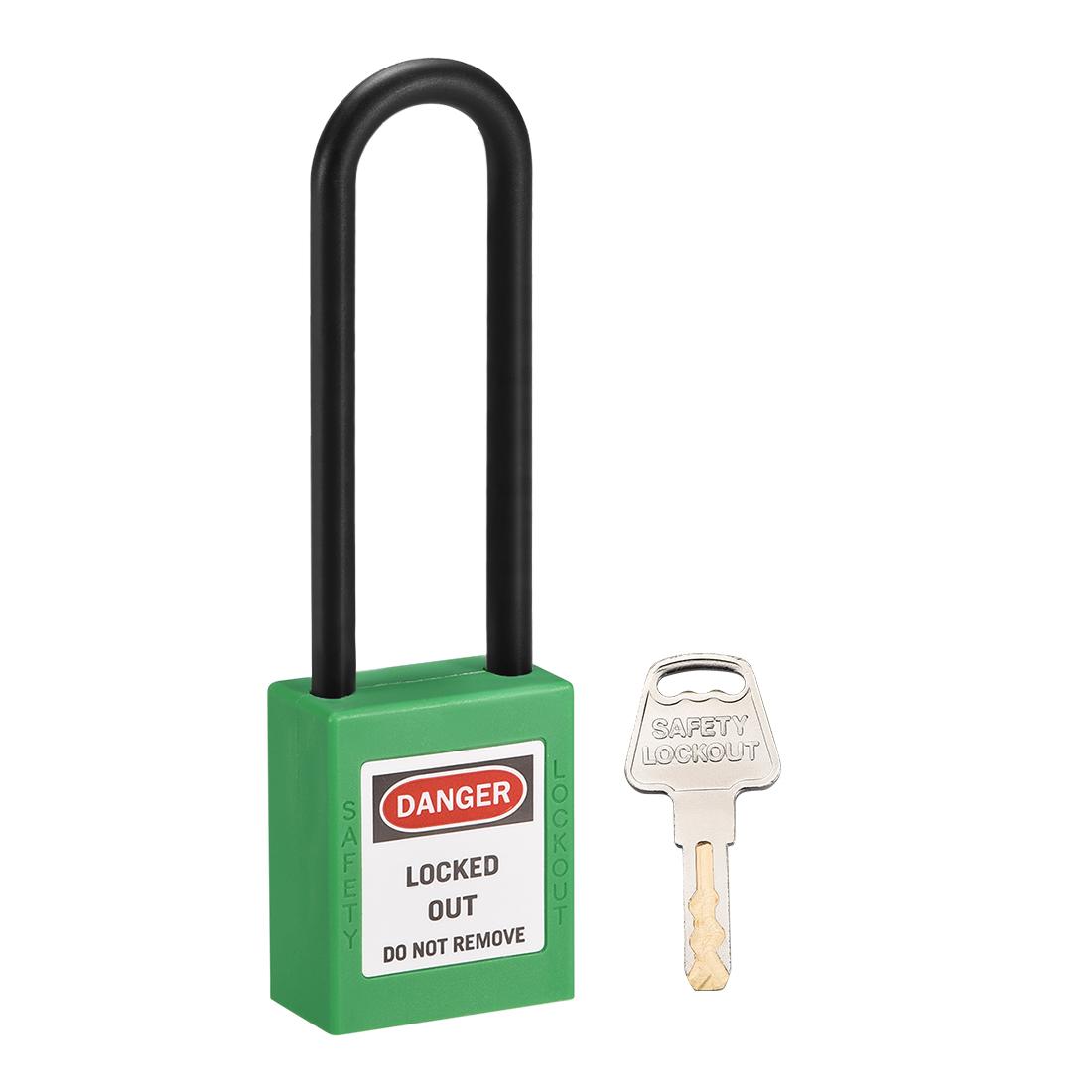 Lockout Tagout Locks 3 Inch Shackle Key Alike Safety Padlock Plastic Light Green