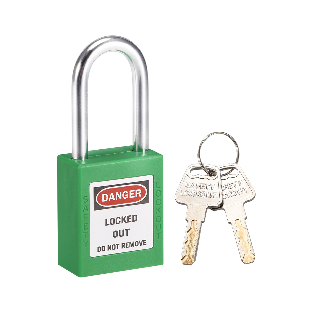 Lockout Tagout Locks 1-1/2 Inch Shackle Key Different Safety Padlock Grass Green