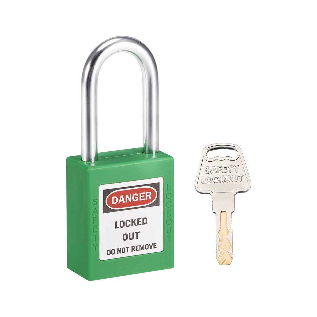 Lockout Tagout Locks 1-1/2 Inch Shackle Key Alike Safety Padlock Grass Green
