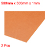 1mm x 500mm x 500mm Bakelite Phenolic Resin Flat Plate Sheet PCB 2pcs