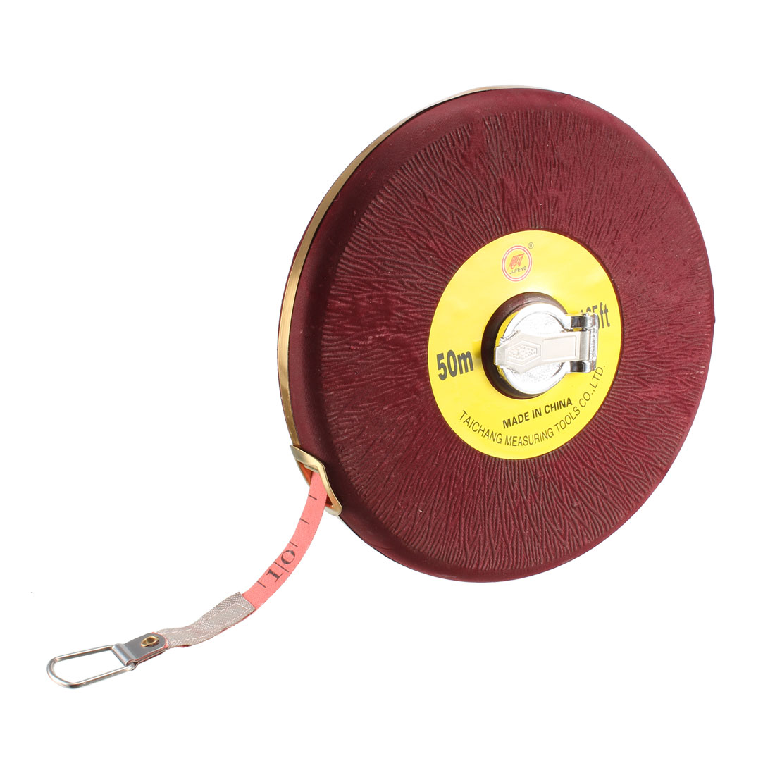 Retractable Sewing Cloth Measuring Tape 50M Length Round Case, Red
