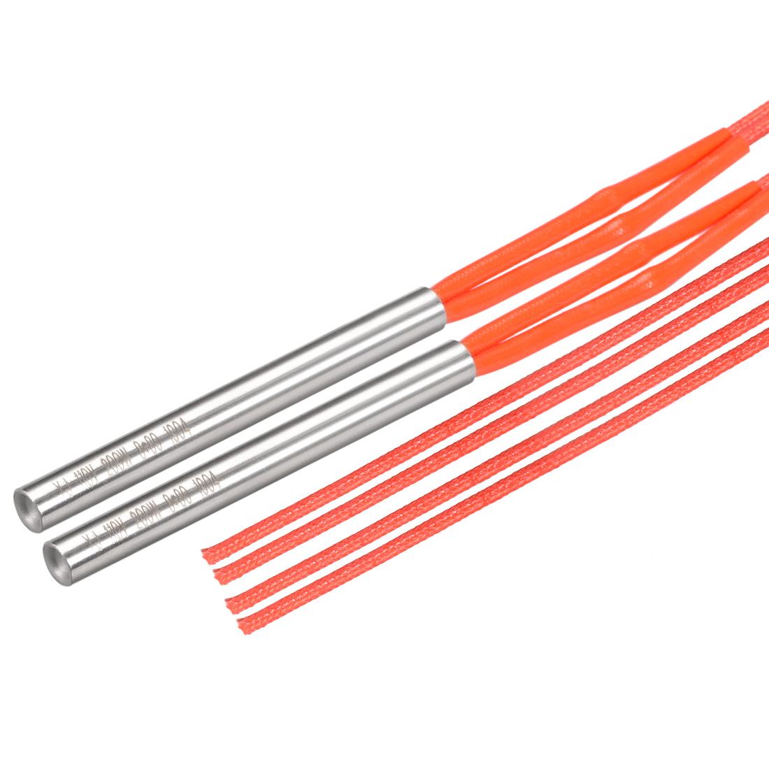 2PCS Cartridge Heater AC 110V 200 Watt Stainless Steel Heat Element Replacement