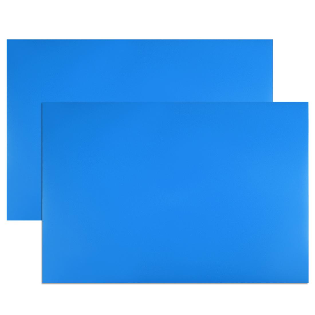 "2 Pcs Dry Erase Magnetic Strip 11.7"" x 8"" Magnetical Sheet Blue"