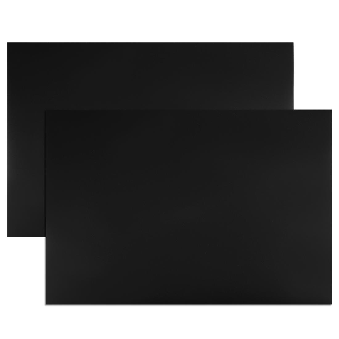 "2 Pcs Dry Erase Flexible Magnetic Strip 11.7"" x 8"" Stickers Writable Black"