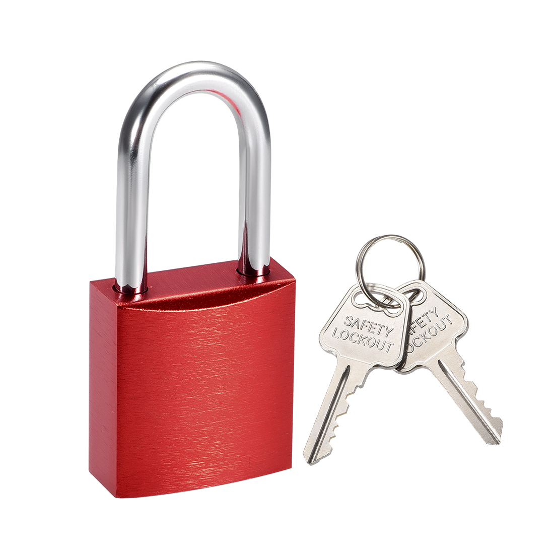 1-1/2 Inch Shackle Key Different Safety Padlock Red