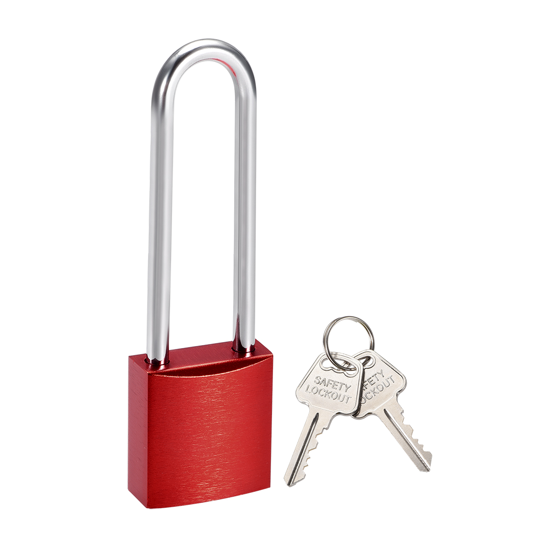 3 Inch Shackle Key Different Safety Padlock Red