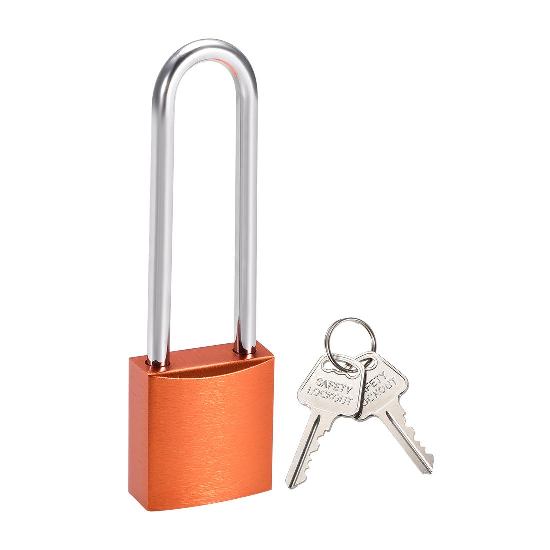 3 Inch Shackle Key Different Safety Padlock Orange