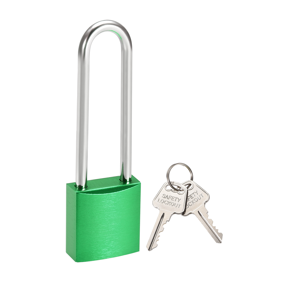 3 Inch Shackle Key Different Safety Padlock Green