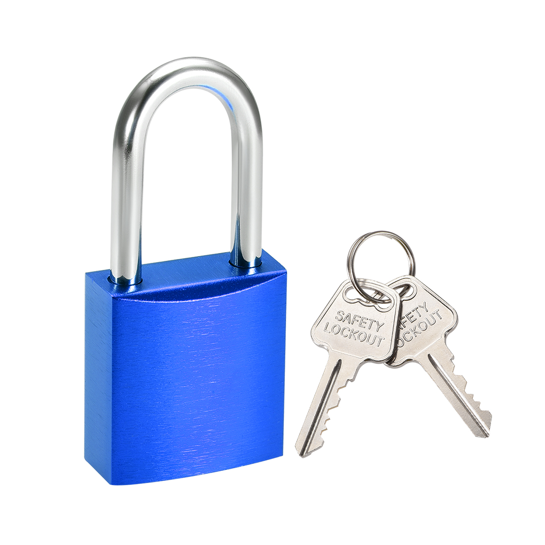 Lock 1-1/2 Inch Shackle Key Alike Safety Padlock Blue