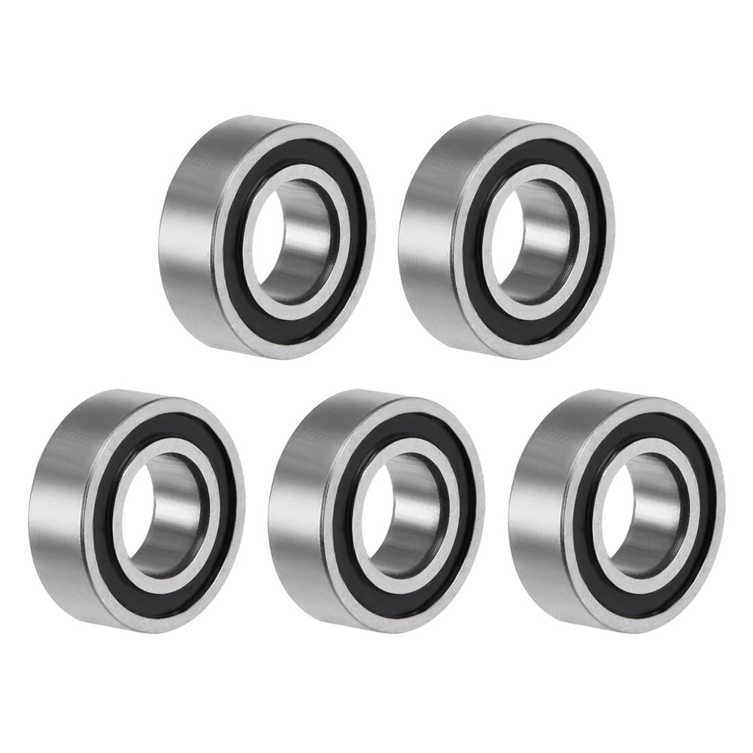 "R166-2RS Ball Bearing 3/16""x3/8""x1/8"" Double Sealed ABEC-3 Bearings 5pcs"