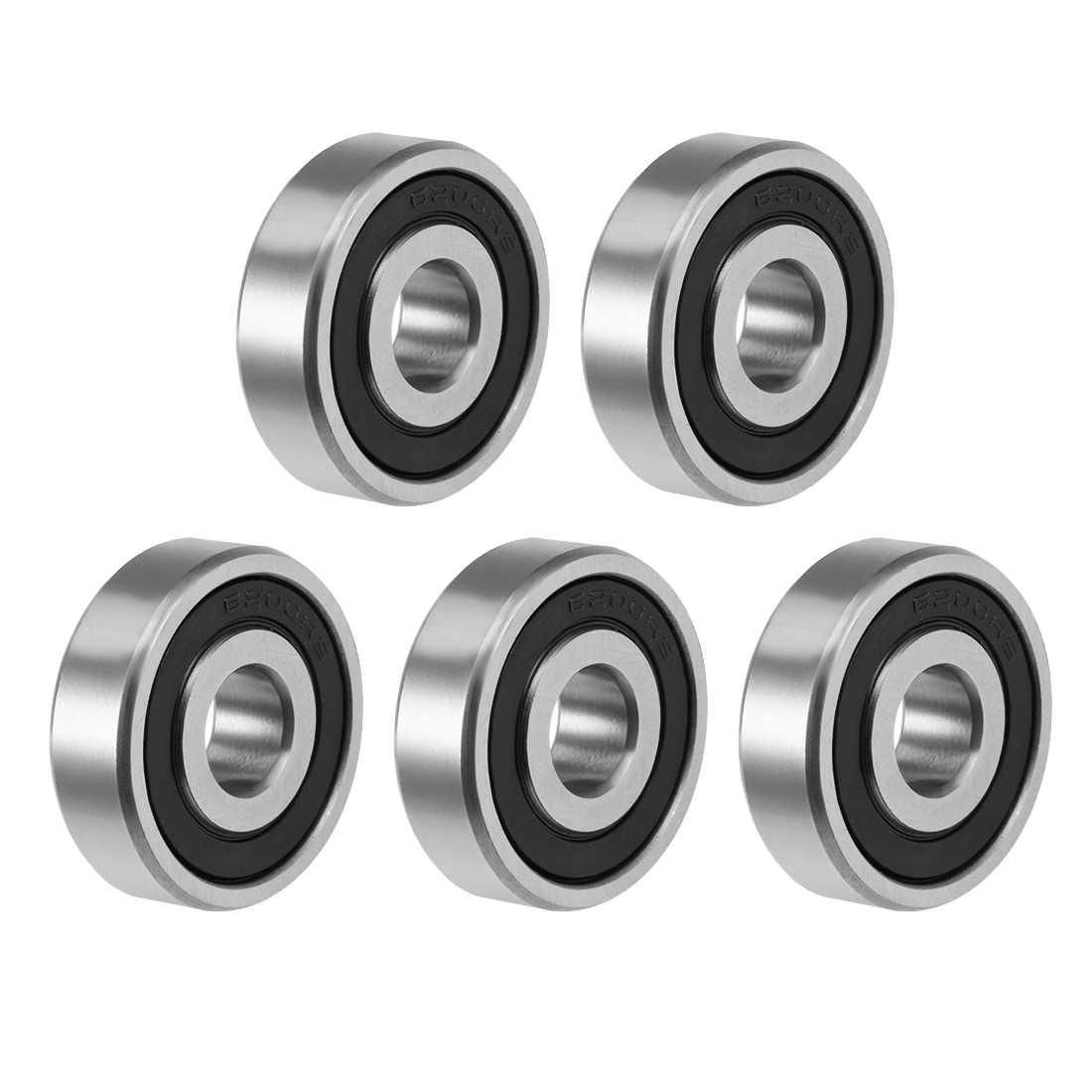 6200-2RS Ball Bearing 10x30x9mm Double Sealed ABEC-3 Bearings 5pcs
